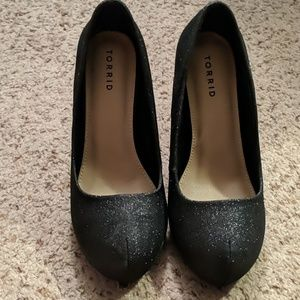Torrid sparkly high heels.